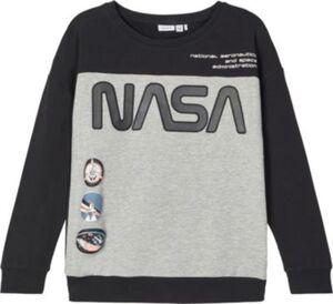 Sweatshirt NKMNASA , Organic Cotton schwarz Gr. 134/140 Jungen Kinder