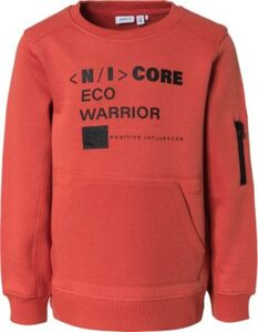 Sweatshirt NKMSAKKI , Organic Cotton orange Gr. 158/164 Jungen Kinder