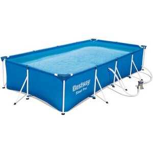 Bestway Steel Pro Frame Pool-Set eckig 400 cm x 211 cm x 81 cm