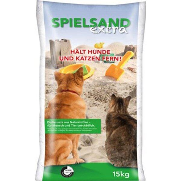 Spielsand Extra 15 kg/Sack mit abweisenden Duftstoffen für Hund und Katze