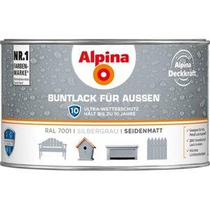 Alpina Buntlack für Aussen Silbergrau seidenmatt 300 ml