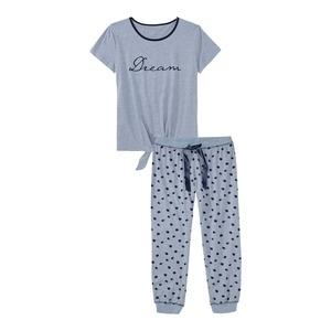 Damen-Schlafanzug mit Punkte-Muster, 2-teilig