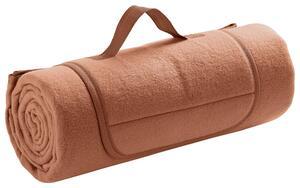 Picknickdecke Uni in Apricot ca. 125x150cm