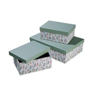 MIA FLEUR Aufbewahrungsbox Floral 3-tlg.