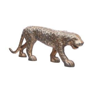 GOLDEN NATURE Deko-Statue Leopard B 60 x T 11cm