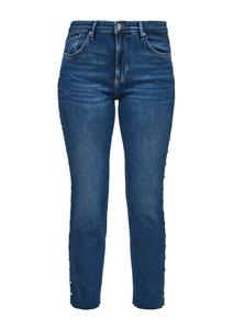 Damen Slim Fit: Jeans mit Schmuckperlen