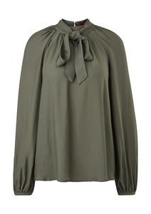 Damen Bluse mit abnehmbarer Schluppe