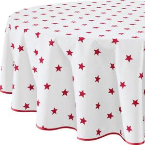 Erwin Müller abwaschbare Tischdecke abwaschbar Sterne Sondergröße#Sondergrößenberechnung rund: 160 cm Ø