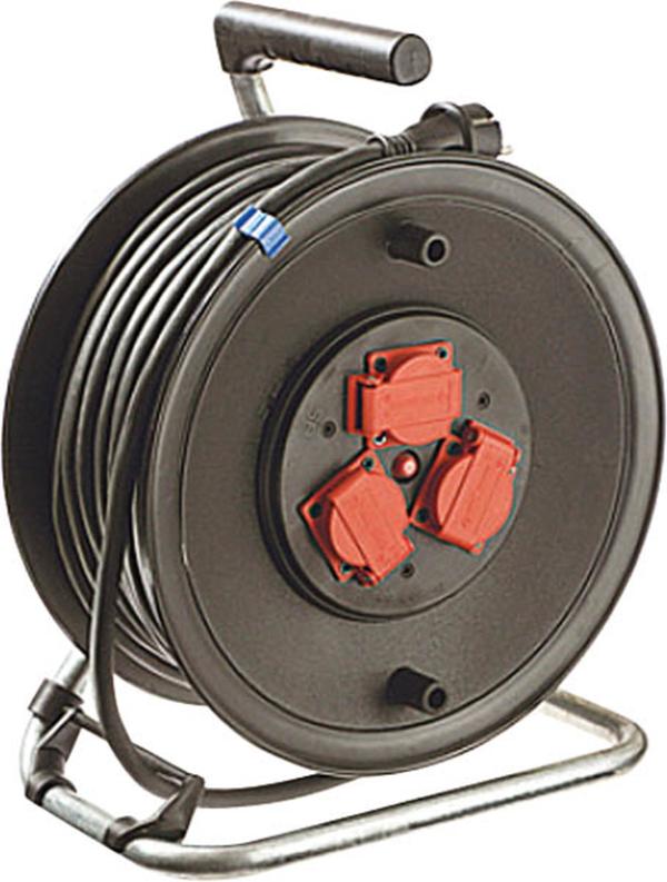 Geräte Kabeltrommel 25 m Gummikabel, 230 mm Durchmesser