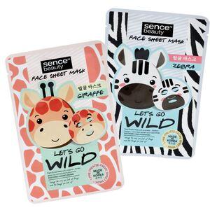 Sencebeauty Lets go wild Gesichtsmaske Zebra & Giraffe 23ml