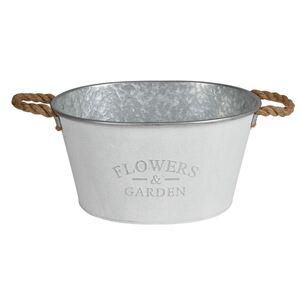 Zink-Pflanzwanne Flowers & Garden 38,5x20x30cm