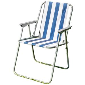 Solax-Sunshine Garten- und Camping Stuhl, Blau/Weiß