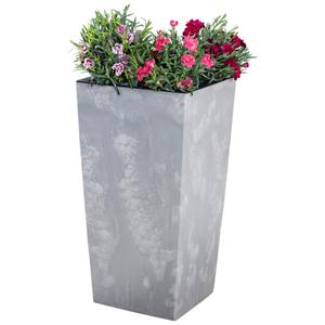 Powertec Garden Pflanzsäule in Beton-Optik, ca. 49 Liter