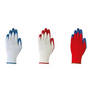 Powertec Garden Gartenhandschuhe, Größe M - Weiß-Blau/Weiß-Rot/Rot-Blau, 3er-Set