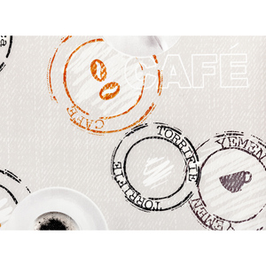 "BELLA CASA Wachstuch-Tischdecke ""Ecotex"", ca. 100 x 140 cm, Coffee"