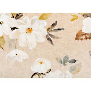 """BELLA CASA Wachstuch-Tischdecke """"Ecotex"""", ca. 130 x 160 cm, Blumen Beige/Braun"""