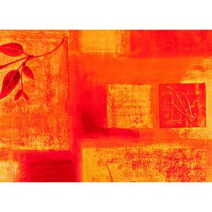 """BELLA CASA Wachstuch-Tischdecke """"Ecotex"""", ca. 130 x 160 cm, Karo/Blätter"""