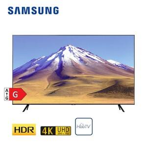 GU55TU6979 • 2 x HDMI, USB, CI+ • integr. Kabel-, Sat- und DVB-T2-Receiver • Maße: H 70,7 x B 123,1 x T 6 cm • Energie-Effizienz G (Spektrum A bis G) nach neuer Richtlin
