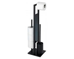 Wenko Stand-WC-Garnitur Rivalta 23708100 schwarz
