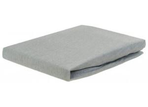 Jersey-Spannbetttuch silber 100 x 200 cm
