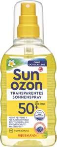 Sunozon Transparentes Sonnenspray LSF 50+