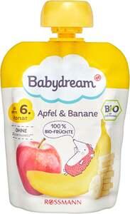 Babydream Bio Fruchtpüree Apfel & Banane