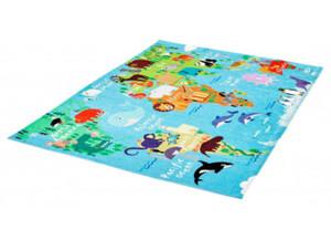 Teppich Fun Kids ca. 80 x 120 cm Weltkarte