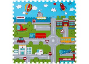 Schaumstoff-Puzzle Straße, bestehend aus 9 je ca. 33 x 33 cm großen Puzzlestücken