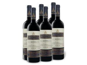 6 x 0,75-l-Flasche Weinpaket Autentica Rioja DOC Reserva trocken, Rotwein