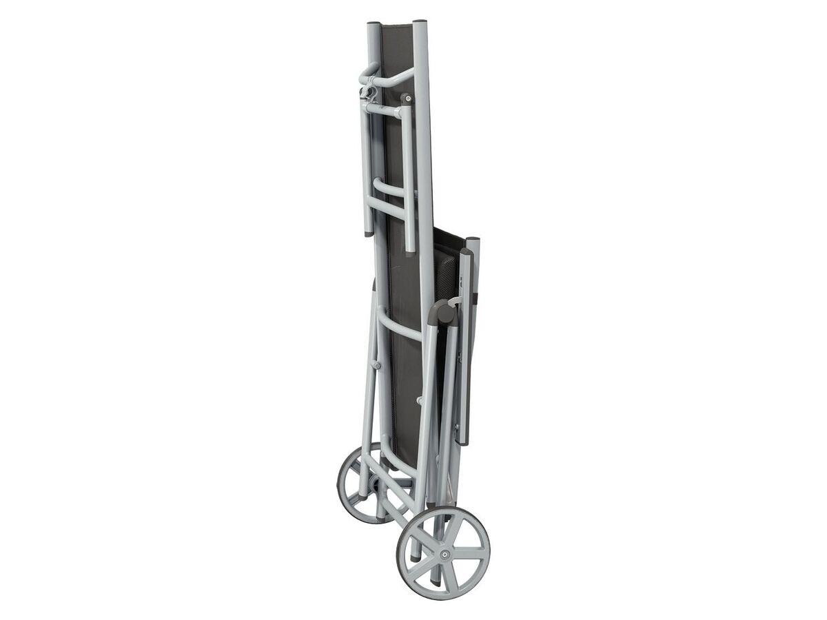 Bild 5 von FLORABEST Rollliege Houston Aluminium, mit Armlehne, silber /grau