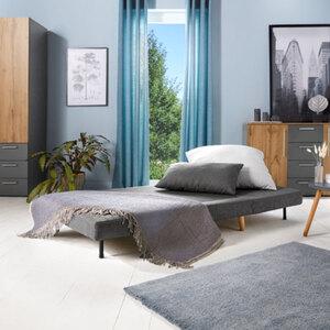 Sofabett, 1-Sitzer, grau1