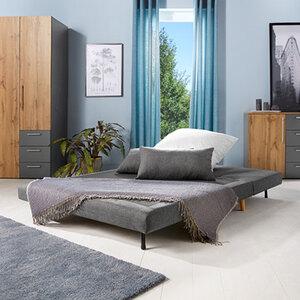 Sofabett, 2-Sitzer, grau1