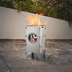 Fußball-Feuersäule Schalke 041