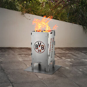 Fußball-Feuersäule BVB1