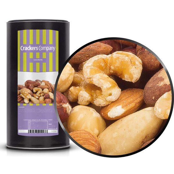 CrackersCompany - Luxury Nut Mix - Luxus Nussmischung - Membrandose groß 700g