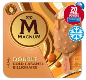 20 Extra Punkte beim Kauf von Magnum Double Gold Caramel