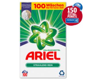 150 Extra Punkte beim Kauf von Ariel Vollwaschmittel