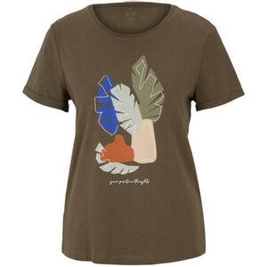 Tom Tailor T-Shirt, Rundhals, Bio-Baumwolle, Aufdruck, für Damen