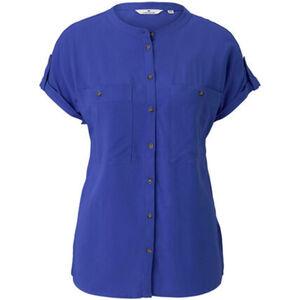 Tom Tailor Shirtbluse, Kurzarm, uni, Brusttaschen, für Damen