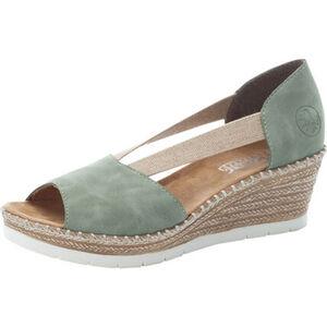 Rieker Sandaletten, Keilabsatz, Logo, für Damen