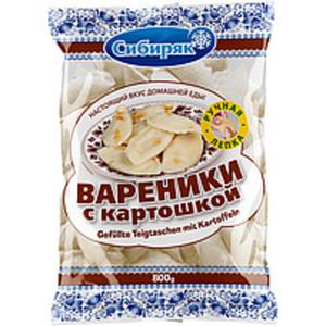 """Handgemachte Teigtaschen mit Kartoffeln gefüllt """"Wareniki Si..."""