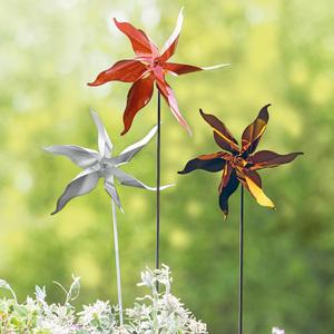 Powertec Garden Edelstahl-Windrad