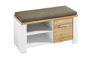 Vito - Sitzbank 6011 in matt weiß/Eiche-Altholz-Nachbildung