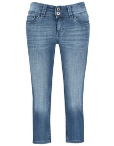 Damen Capri - Bleached Denim