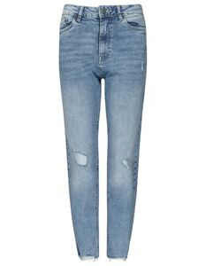 Damen Girlfriend Fit Jeans mit Stretch-Anteil