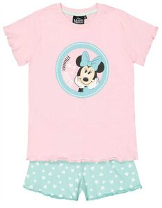 Mädchen Pyjama Set aus Shirt und Shorts Minnie Mouse-Print