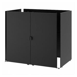 GRILLSKÄR Tür/Seiten/Rückwand, schwarz/Edelstahl für draußen