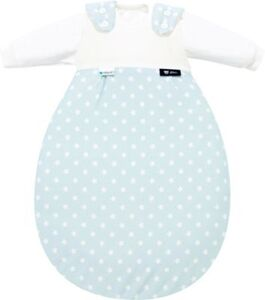 Schlafsack Baby-Mäxchen Tencel®, Stars aqua, Gr. 50/56