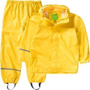 Kinder Regenset mit Latz gelbgold Gr. 80