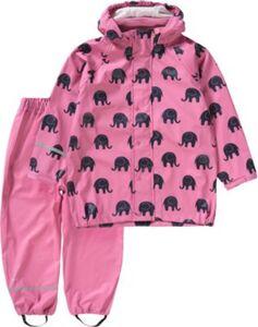 Regenset  mit Latz rosa Gr. 80 Mädchen Kinder